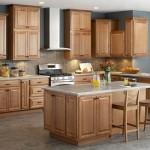 Mẫu tủ bếp gỗ sồi mỹ có kiểu dáng thon gọn - 01